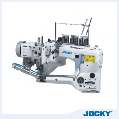 Direct drive, feed-off-the-arm interlock, 4 needle 6 thread, knitting sewing, with double cutter  interlock machine