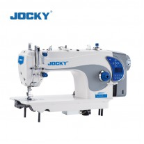 Intelligent direct drive lockstitch sewing machine with auto thread trimmer