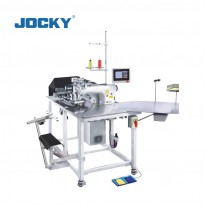 Computerized full automatic Polo shirt cut open front placket sewing machine