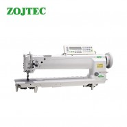 Long arm (635mm) heavy duty compound feed sewing machine, double needle, auto trimmer, auto foot lifting
