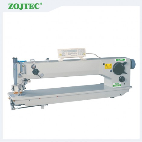 Computerized long arm zigzag sewing machine, double needle