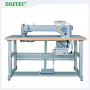 Computerized long arm patterns zigzag sewing machine, double needle